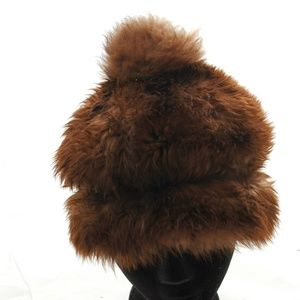 Vintage Sheepskin Shearling Hat Fur Tuscan Lamb